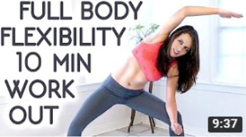 10 Minute Beginners Workout, Full Body Flexibility Stretches, At Home Stretching Routine Exercises