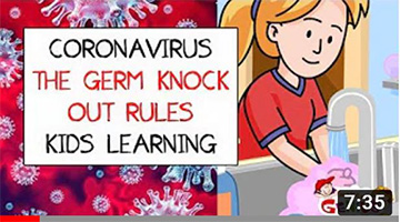 Coronavirus (COVID19) I The Germ Knock Out Rules I Kids Learning