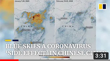Coronavirus: blue skies over Chinese cities as Covid-19 lockdown temporarily cuts air