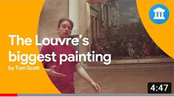 Discover the biggest painting in the Louvre Museum with Tom Scott