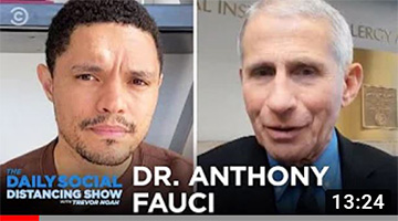 Dr. Fauci Answers Trevor's Questions About Coronavirus | The Daily Social Distancing