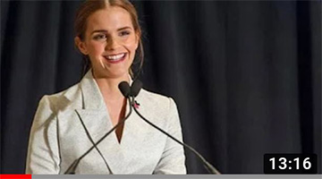 Emma Watson at the HeForShe Campaign 2014 – Official UN Video