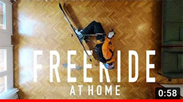 Freeride Skiing at Home in 4K