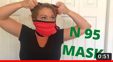 HOW TO MAKE AN N95 FACE MASK AT HOME IN SECONDS