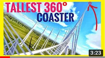 Highest VR 360° Roller Coaster in 8K – POV 360 3D Videos Split Screen Virtual Reality