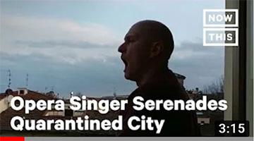 Italian Opera Singer Serenades Quarantined Florence Amidst Coronavirus Outbreak |