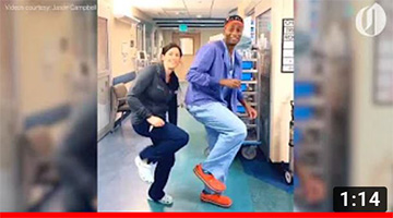 OHSU doctor dancing in hospital corridors offers reprieve during coronavirus pandem