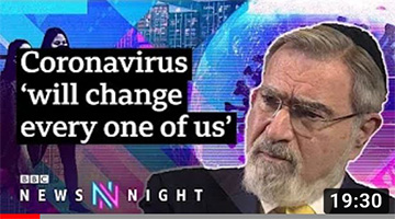 Rabbi Sacks: Coronavirus 'will try nation like during WWII' [FULL INTERVIEW] – BBC Ne