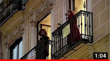 Spanish singer livens up coronavirus lockdown with balcony concert