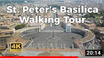 St. Peter's Basilica Walking Tour in 4K