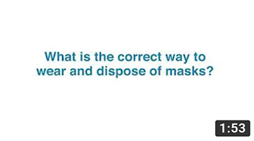 What is the correct way to wear and dispose of masks?