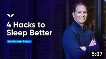 How To Sleep Better By Doing These 4 Hacks | Dr. Michael Breus