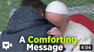 Pope gives sweet answer to heartsick boy who lost his papa