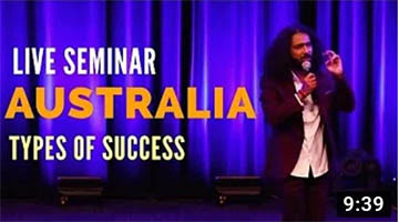 Types Of Success – LIVE SEMINAR IN AUSTRALIA