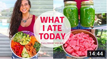 WHAT I ATE TODAY | Raw Vegan Summer Recipes…Tea & Shrooms?
